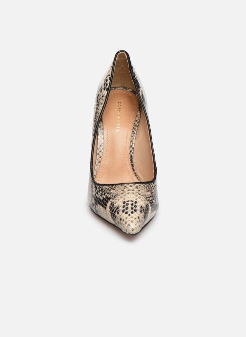 Escarpins COSMOPARIS AELIA/SNAKE Beige vue portées chaussures