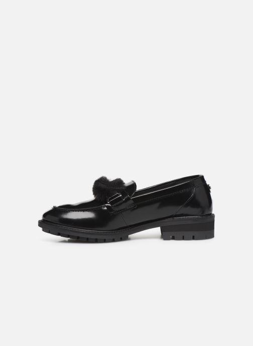 Loafers COSMOPARIS VIVIANE/FUR Black front view