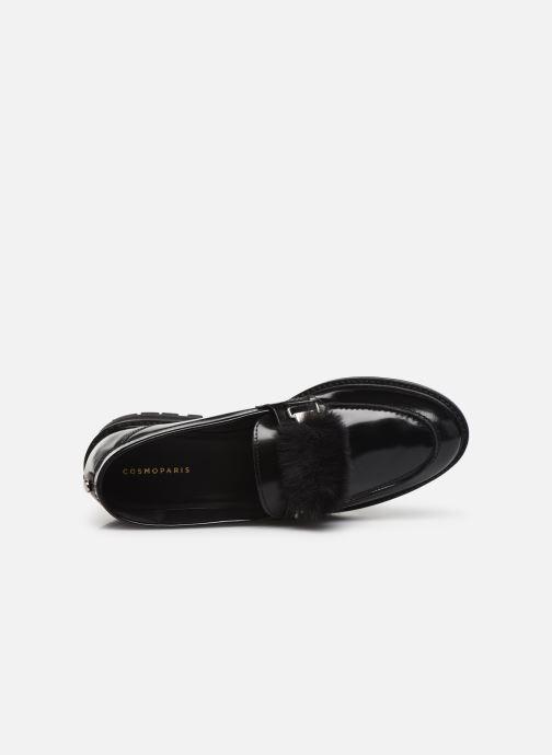 Loafers COSMOPARIS VIVIANE/FUR Black view from the left