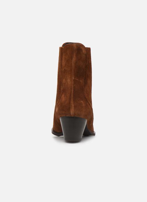 Bottines et boots COSMOPARIS SAN DIEGO/VEL Marron vue droite