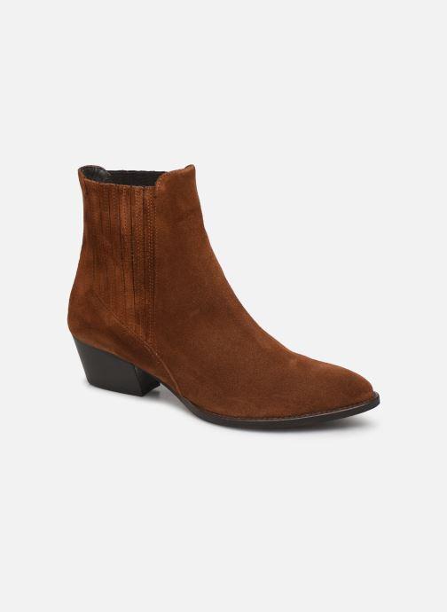 Bottines et boots COSMOPARIS SAN DIEGO/VEL Marron vue détail/paire