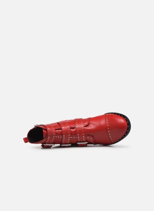 Botines  COSMOPARIS GALATEA Rojo vista lateral izquierda