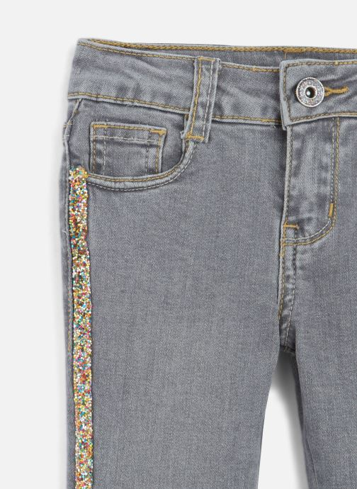Vêtements Billieblush Jean U14342 Gris vue portées chaussures