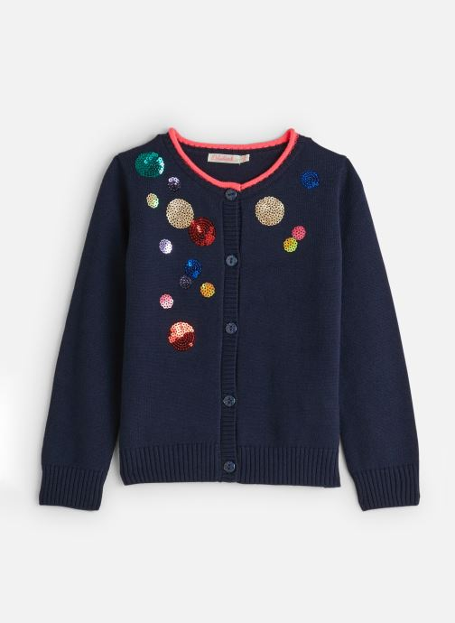 Vêtements Billieblush Gilet U15642 Bleu vue détail/paire