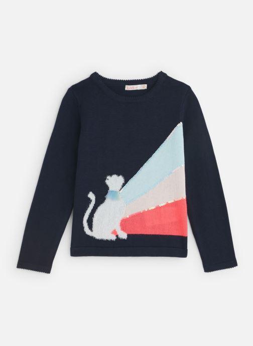 Vêtements Billieblush Pull U15655 Bleu vue détail/paire