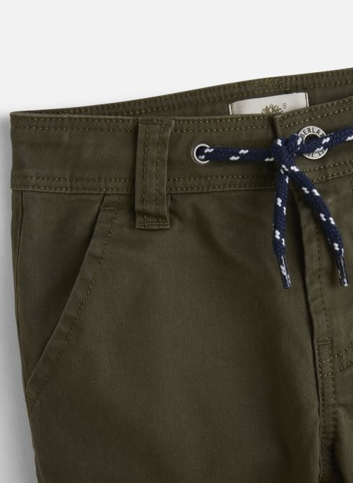 Vêtements Timberland Pantalon T24A71 Vert vue portées chaussures