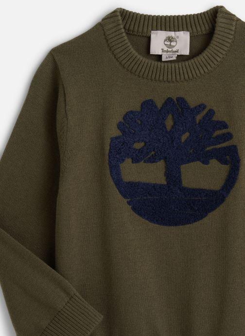 Vêtements Timberland T-shirt T25Q32 Vert vue portées chaussures