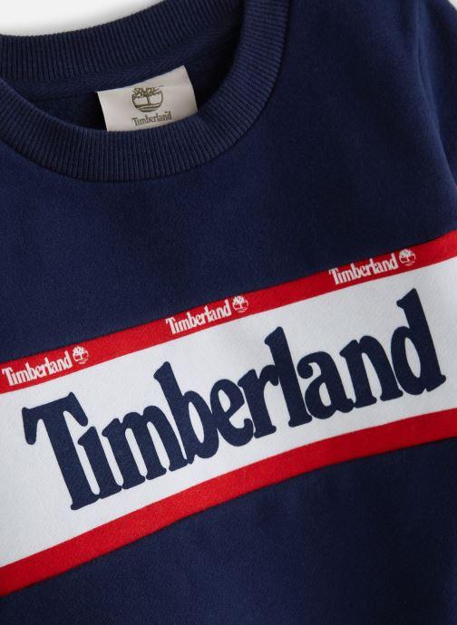 Vêtements Timberland Sweat T25Q38 Bleu vue portées chaussures