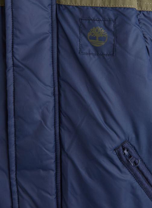 Vêtements Timberland Manteau T26498 Bleu vue portées chaussures