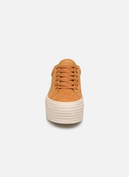 Baskets No Name Spice Sneaker Goat Suede Jaune vue portées chaussures