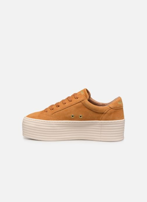 Baskets No Name Spice Sneaker Goat Suede Jaune vue face