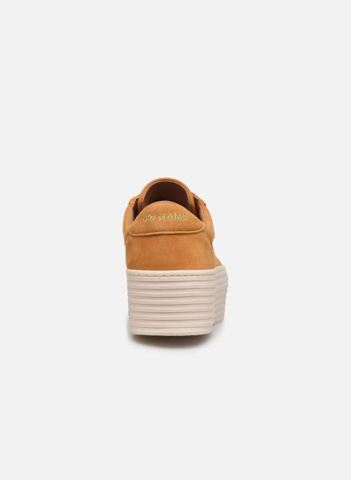 Baskets No Name Spice Sneaker Goat Suede Jaune vue droite