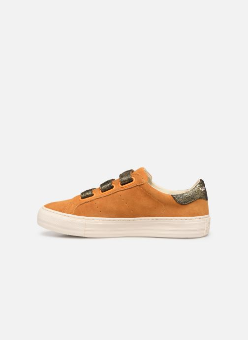 Sneakers No Name Arcade Straps Goat Suede/Hit Gul se forfra