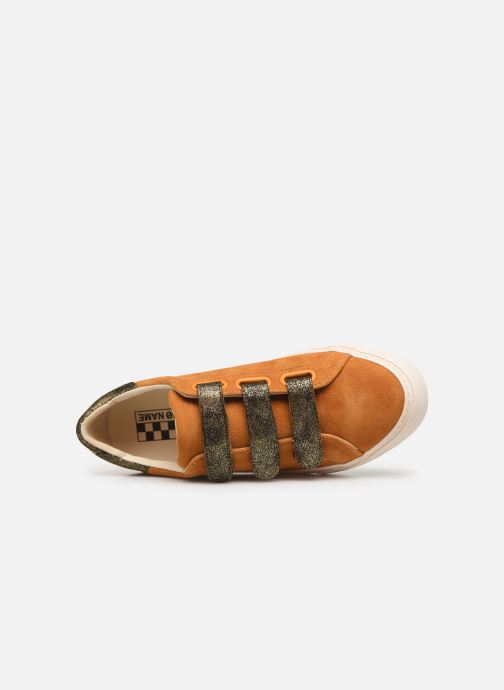 Sneakers No Name Arcade Straps Goat Suede/Hit Gul se fra venstre