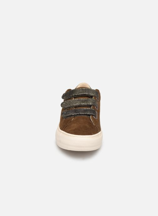 Baskets No Name Arcade Straps Goat Suede/Hit Marron vue portées chaussures