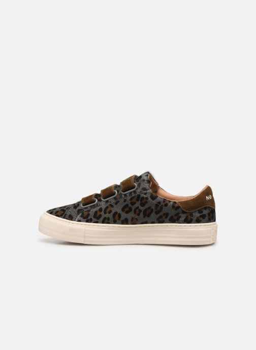 Sneakers No Name Arcade Straps Pony Leopard/Goat Suede Blauw voorkant