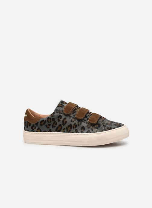 Sneakers No Name Arcade Straps Pony Leopard/Goat Suede Blauw achterkant