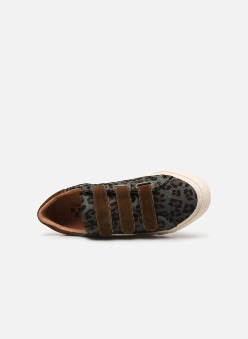 Sneakers No Name Arcade Straps Pony Leopard/Goat Suede Blauw links