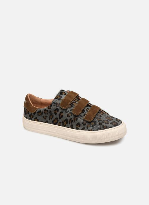 Trainers No Name Arcade Straps Pony Leopard/Goat Suede Blue detailed view/ Pair view