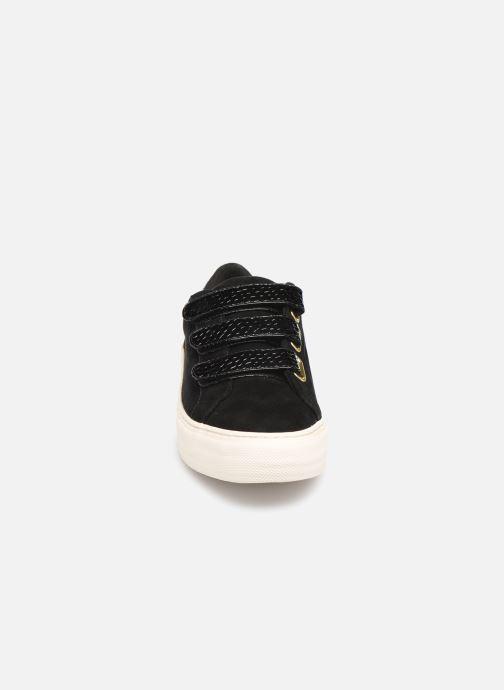 Baskets No Name Arcade Straps Goat SuedeNara Noir vue portées chaussures