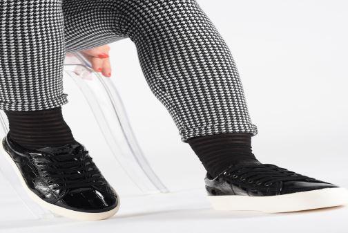Baskets No Name Plato Sneaker Print Croco Noir vue bas / vue portée sac