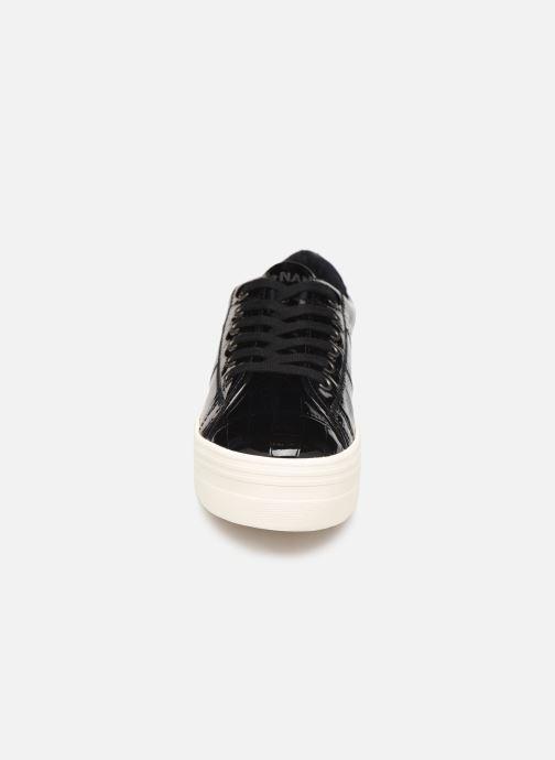 Baskets No Name Plato Sneaker Print Croco Noir vue portées chaussures