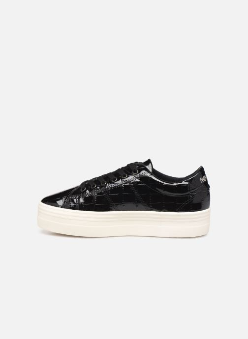 Baskets No Name Plato Sneaker Print Croco Noir vue face