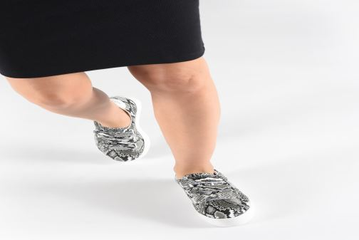 Sneakers No Name Plato Straps Print Kobra Grijs onder
