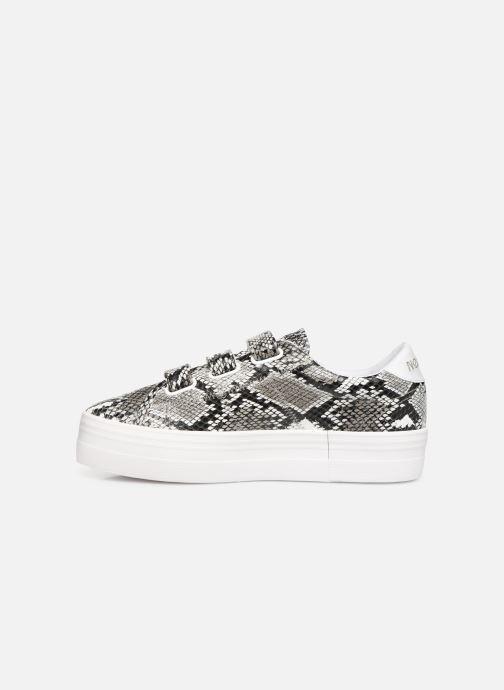 Sneakers No Name Plato M Straps Print Kobra Grigio immagine frontale