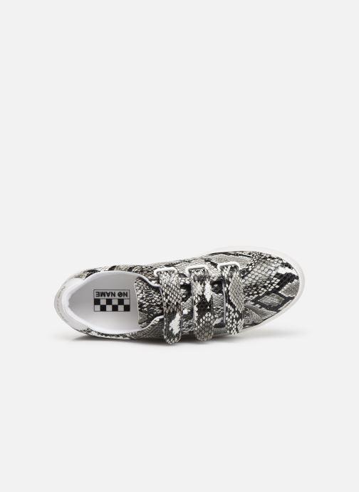 Sneakers No Name Plato Straps Print Kobra Grijs links
