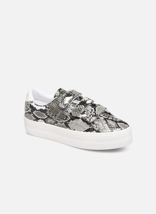 Sneakers No Name Plato Straps Print Kobra Grijs detail