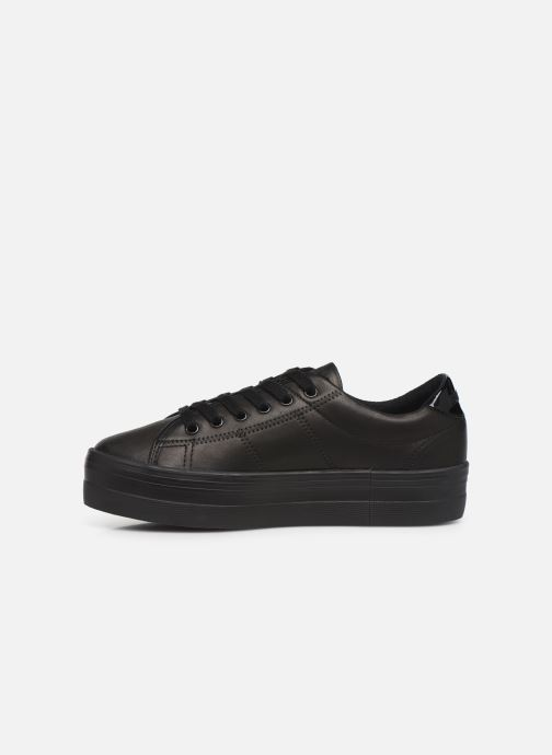 Baskets No Name Plato Sneaker Nappa/Patent Noir vue face