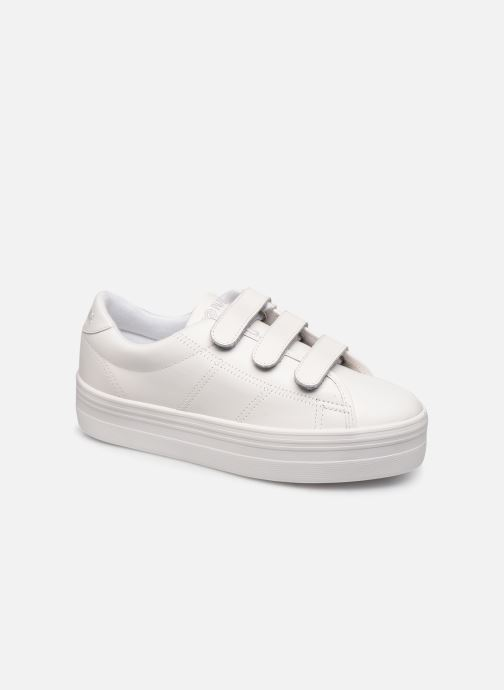 Baskets No Name Plato Straps Nappa Blanc vue détail/paire