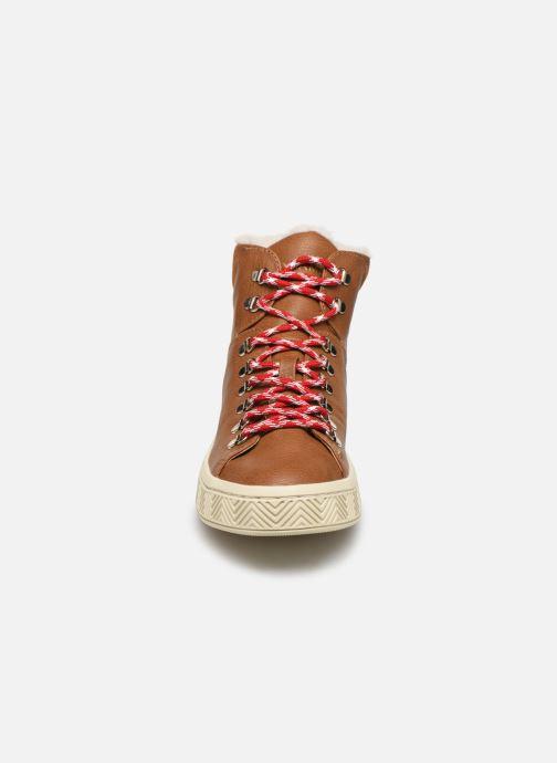 Chaussures de sport No Name Ginger Mid Soft Grain Marron vue portées chaussures
