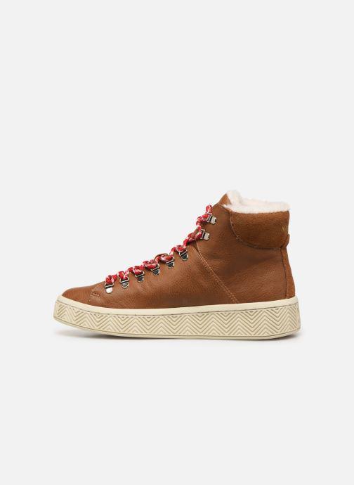 Chaussures de sport No Name Ginger Mid Soft Grain Marron vue face