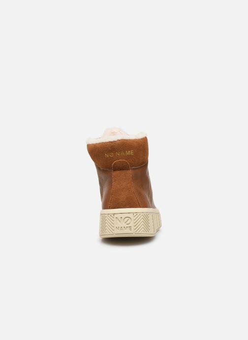 Chaussures de sport No Name Ginger Mid Soft Grain Marron vue droite