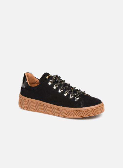 Baskets No Name Ginger Sneaker Cowsuede Noir vue détail/paire