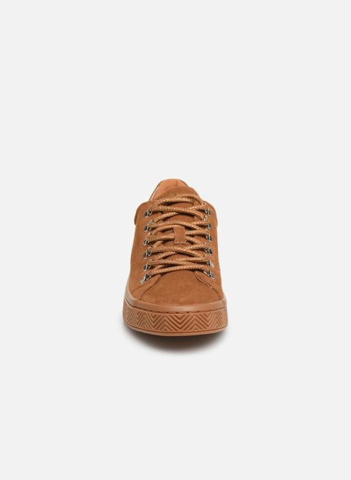 Baskets No Name Ginger Sneaker Cowsuede Marron vue portées chaussures