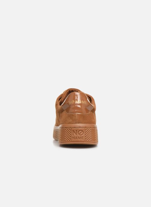 Baskets No Name Ginger Sneaker Cowsuede Marron vue droite