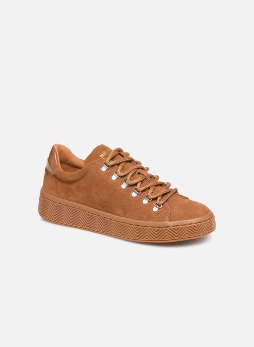 Sneakers No Name Ginger Sneaker Cowsuede Bruin detail