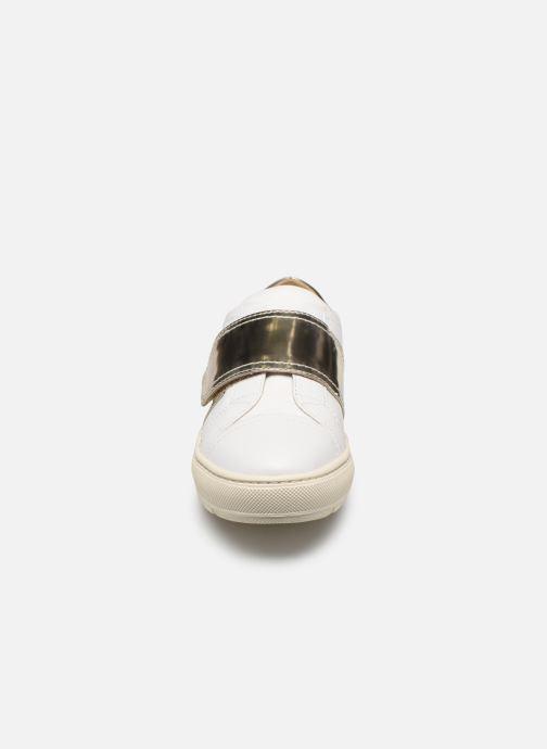 Baskets Geox D BREEDA E D822QE Blanc vue portées chaussures