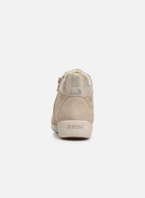 Sneakers Geox D MYRIA B D8268B Beige rechts