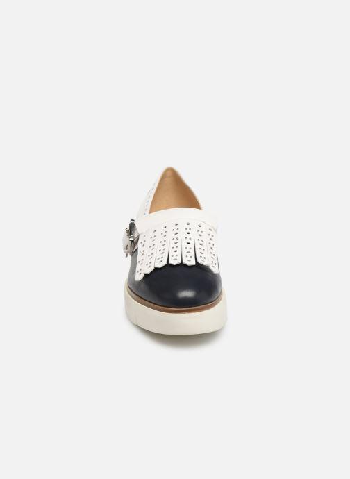 Mocassins Geox D KATTILOU E D827PE Bleu vue portées chaussures