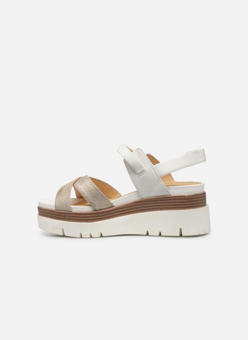 Sandales et nu-pieds Geox D RADWA C D827UC Blanc vue face