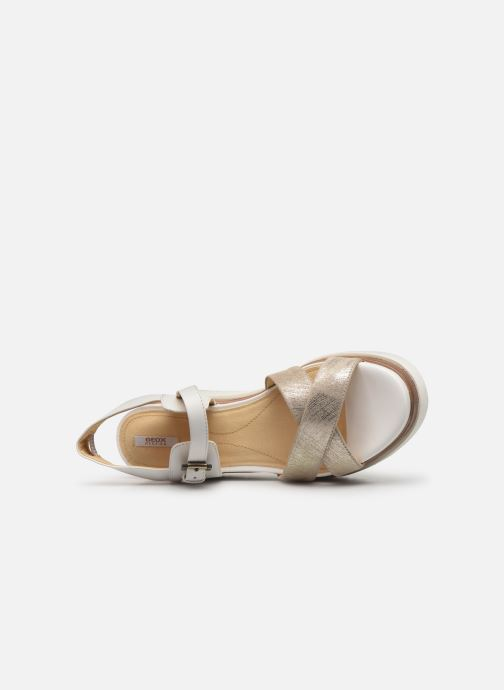 Sandales et nu-pieds Geox D RADWA C D827UC Blanc vue gauche