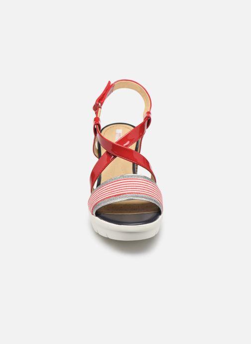 Sandales et nu-pieds Geox D GINTARE B D827VB Rouge vue portées chaussures