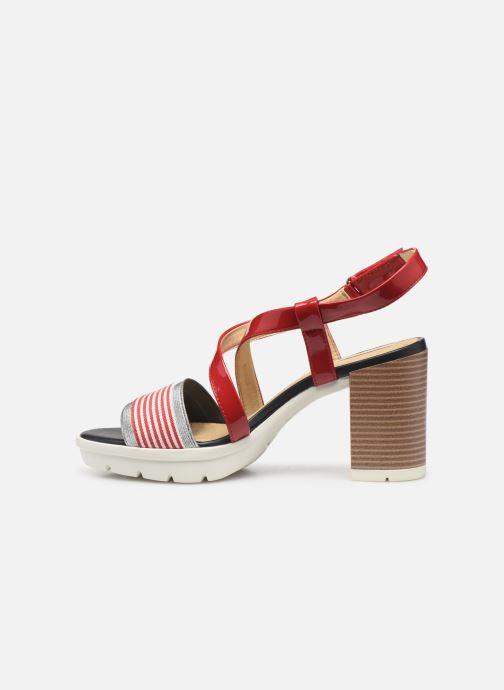Sandali e scarpe aperte Geox D GINTARE B D827VB Rosso immagine frontale