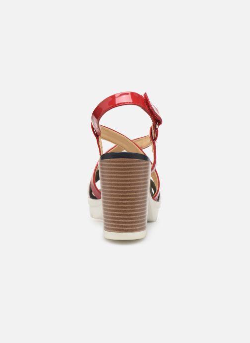 Sandales et nu-pieds Geox D GINTARE B D827VB Rouge vue droite