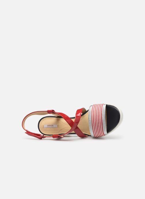 Sandales et nu-pieds Geox D GINTARE B D827VB Rouge vue gauche