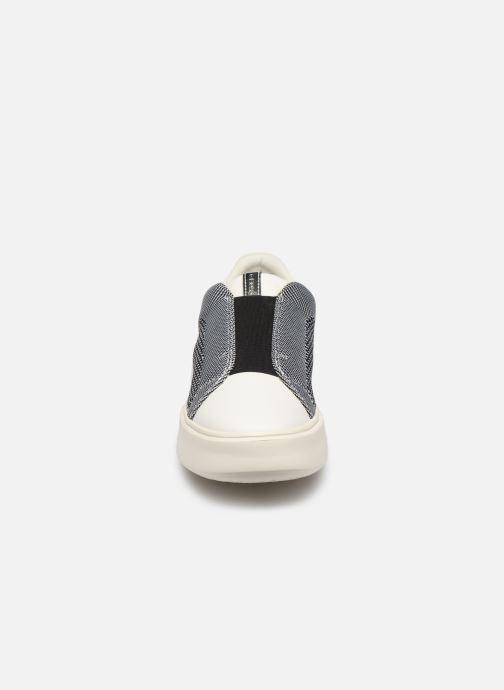 Baskets Geox D NHENBUS D D828DD Gris vue portées chaussures